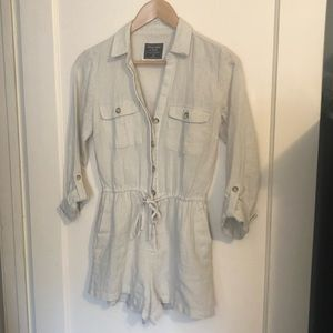 🔥NWOT Linen Utility Romper Abercrombie and Fitch